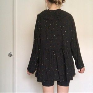 Vintage Tops - Vintage Witchy Large Collar Blouse